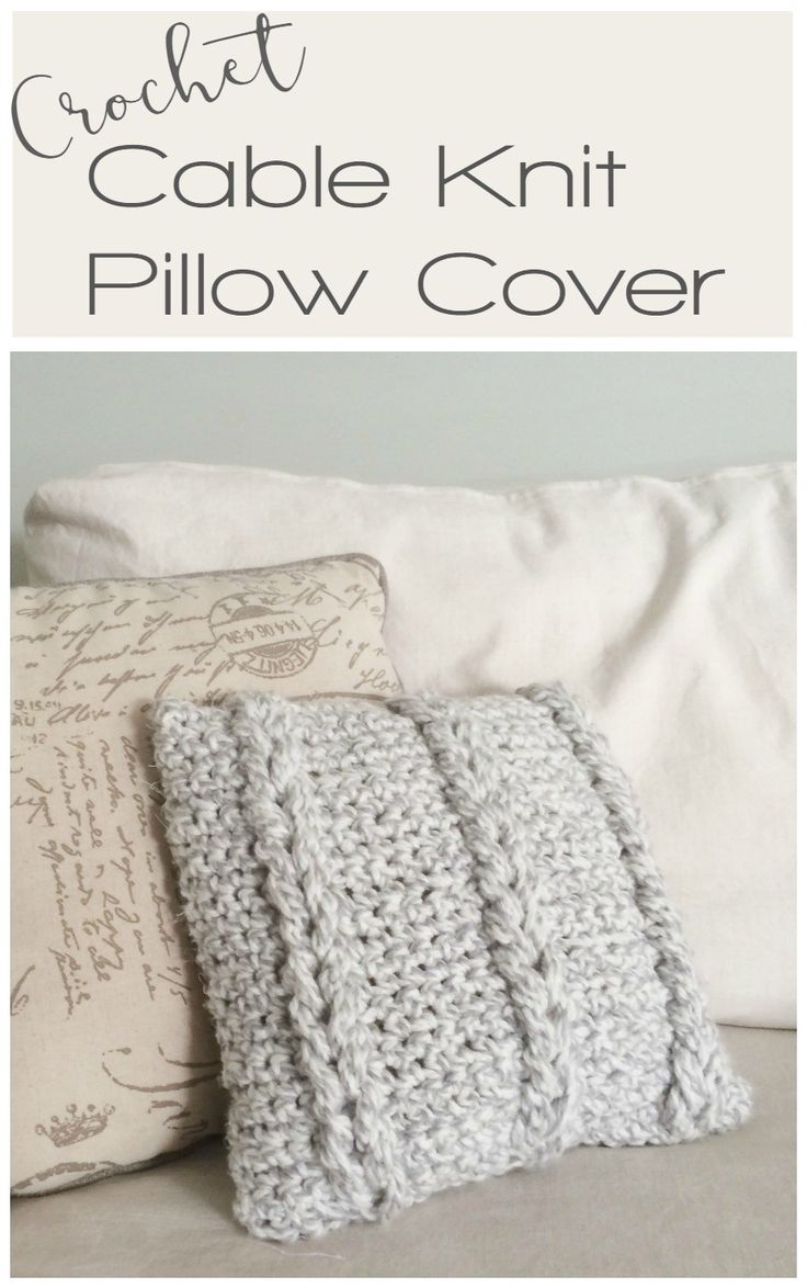 Cable Knit Pillow Pattern Free : 1122 best images about Craft Yarn on Pinterest Free pattern, Purl bee and...