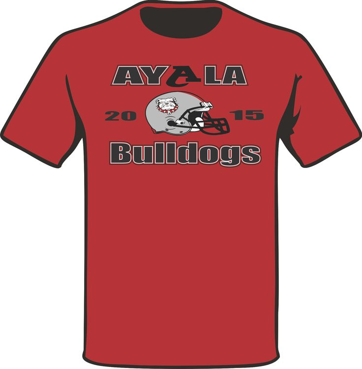 Another Chest logo piece on a Red T-Shirt for the 2015 football Coaching Staff of Ayala High School. #PracticeGear #BulldogNation #AyalaBulldogs #ArtWorkRendering