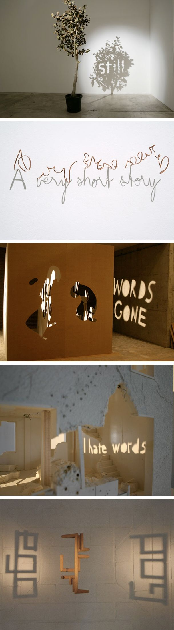 Incredible Shadow Scuptures/Typography