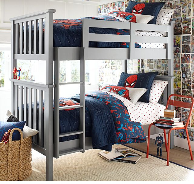 Childrens Bedroom Boys Bedroom Ideas Easy Bedroom Ideas Oak Furniture Bedroom Colour Paint Design: Spider Man Bunk Bed Fun!
