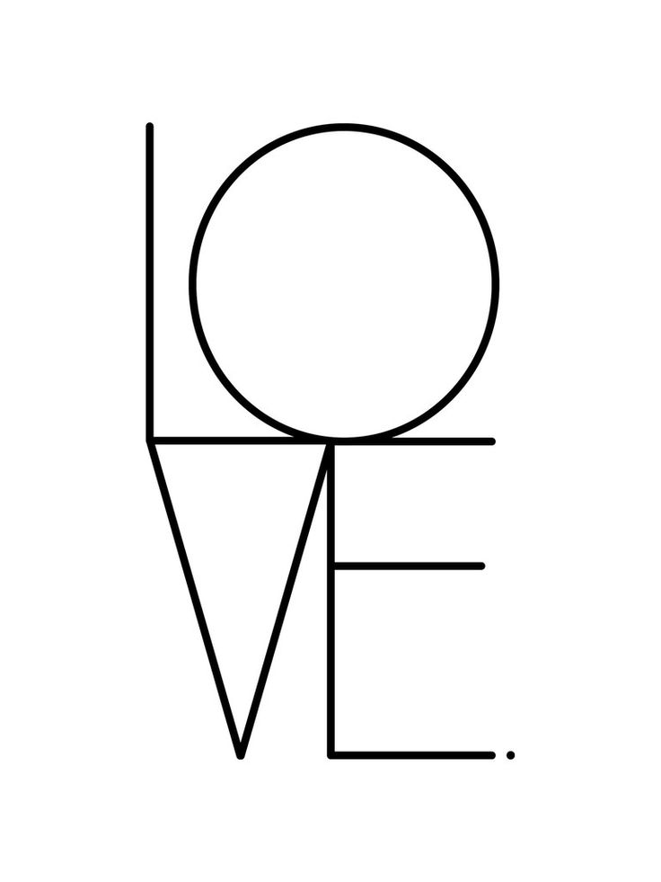 Typographic love print by Dowse