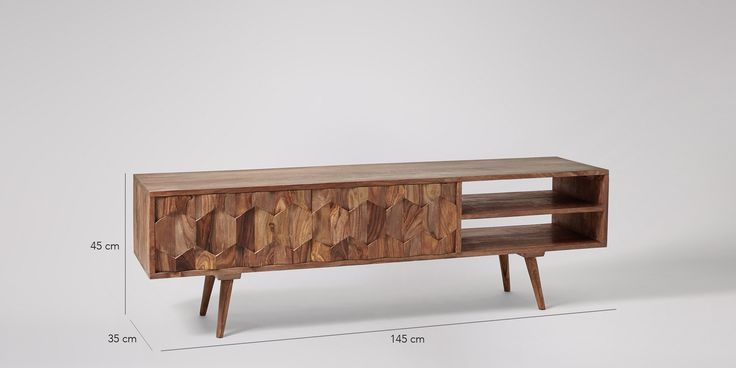 Swoon Editions Media unit, mid-century style in rosewood - £269