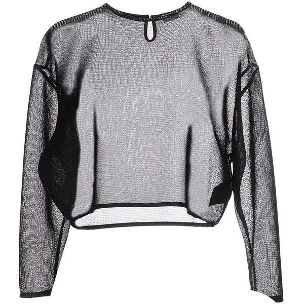 SAINT LAURENT Sweater (1366095 PYG) ❤ liked on Polyvore featuring tops, sweaters, shirts, long sleeves, yves saint laurent, extra long sleeve shirts, long sleeve sweater, long-sleeve shirt and long sleeve shirts