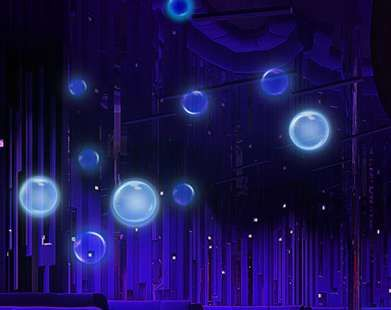 """Glow In The  Dark Bubbles -  Mix equal parts washable glow-in-the-dark paint and bubble solution.Expose the mixture to bright light to """"charge"""" it to glow in the dark. Use the bubble wand to blow bubbles in the dark."""