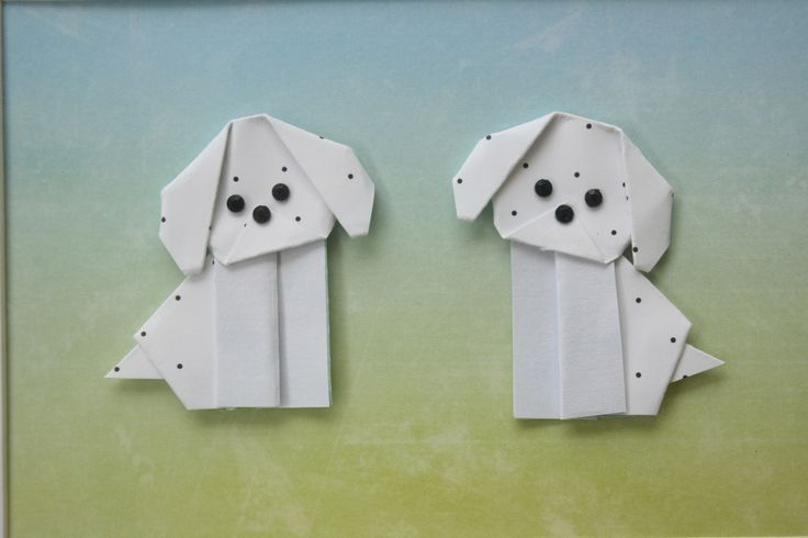 Origami Dogs - Green & Blue — Bubba&Beyond