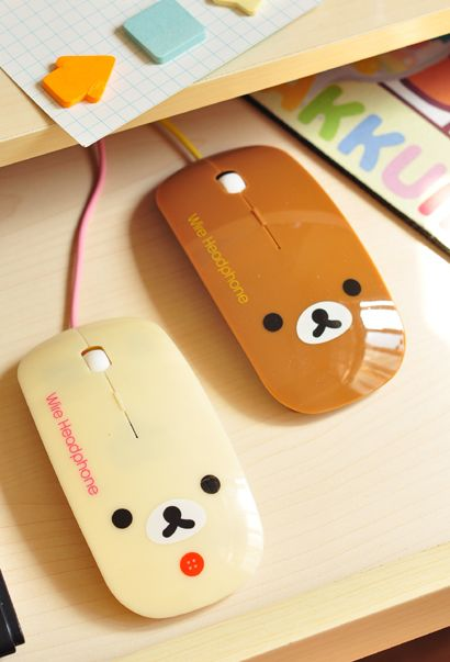 Ratón USB de Rilakkuma San x Relax Bear para la computadora