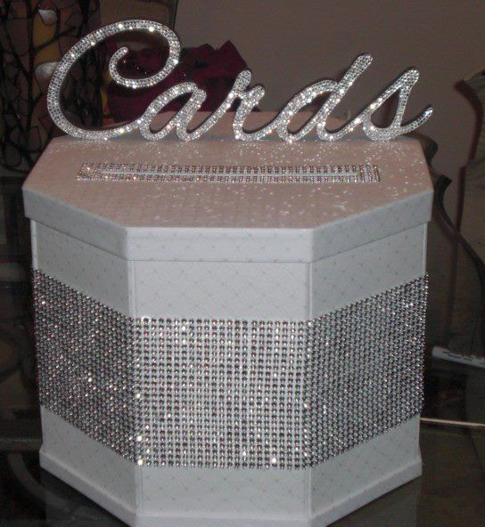 Bling Cardbox Wedding White Silver Diy Love It