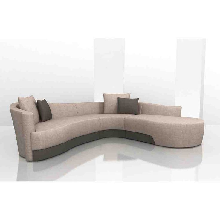 curved sectional sofa with chaise