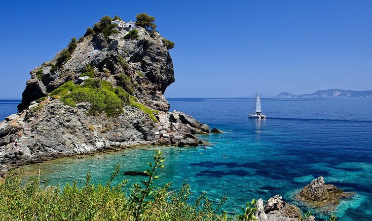 #Skopelos: The #world #famous Island of #MammaMia #Movie! Stage your dream #wedding in this #Greek diamond #island of nature beauty with #BlueSeaWeddings!