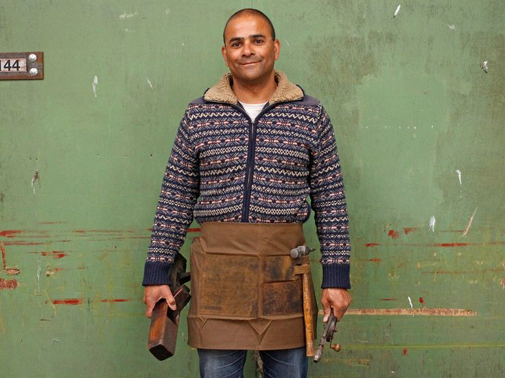 Half Leather and Canvas Work Apron for modern Craftsmen