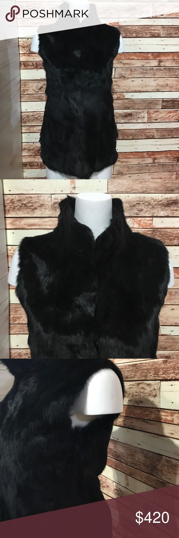 Barneys New York Rabbit Fur Vest Please use photos as reference to condition and what is included. Barneys New York Jackets & Coats Vests