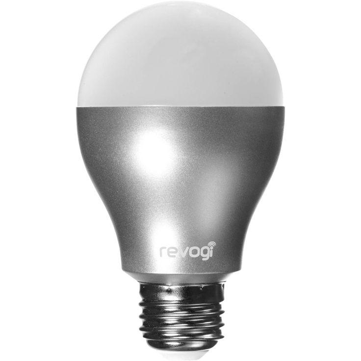 Revogi - Smart Lightbulb 450-Lumen, 6.5W Dimmable LED Light Bulb - White, LTB012