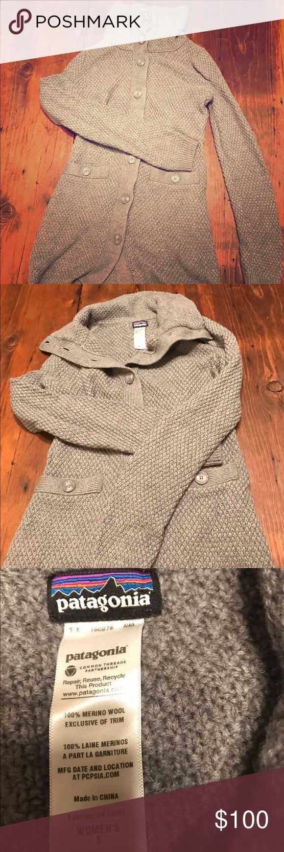 Patagonia sweater long sweater coat Gently worn Patagonia knit sweater coat with pockets Patagonia Sweaters Cardigans