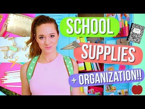 DIY School Supplies + Locker Organization!! Alisha Marie - YouTube