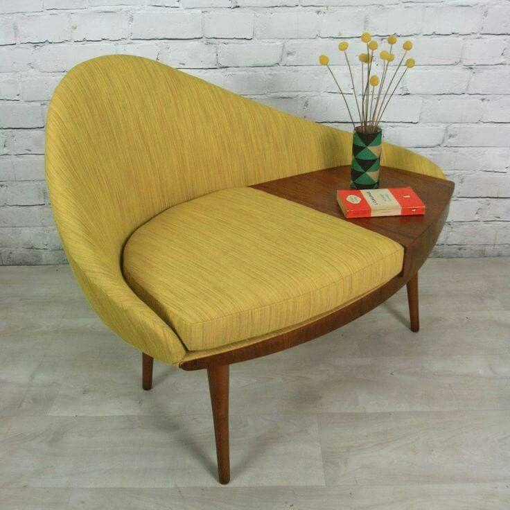 Dreipunkt Designer Leather Sofa Mustard Yellow Two Seat: 25+ Best Ideas About Retro Chairs On Pinterest