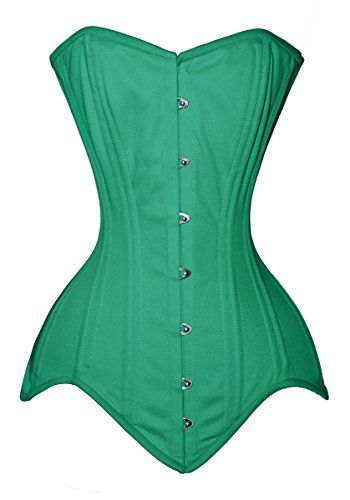 68387306a8a Luvsecretlingerie 26 Double Steel Boned Waist Training Long Line Overbust  CorsetLight GreenXL30 For waist 3435     Want additional info  Click on the  image.
