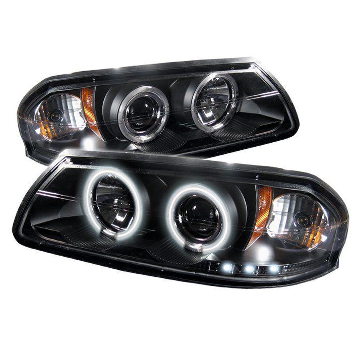 2000 2005 Chevy Impala Black Projector Headlights Spyder Auto Pair 2001 2002 2003 2004