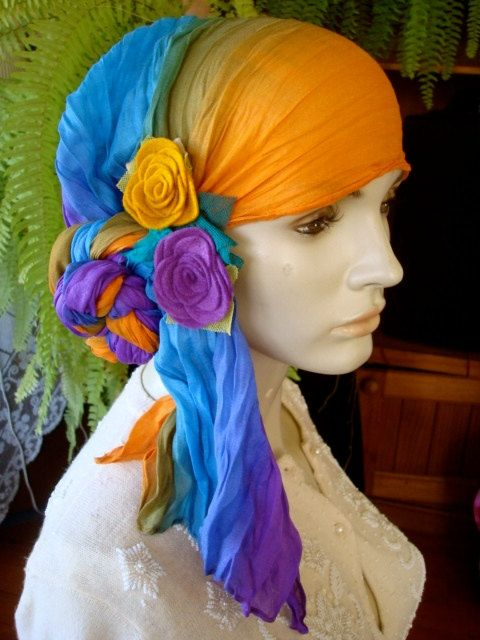 How to tie your turban  headscarf Chemo Hat by GypsyLoveHeadbands, $38.00