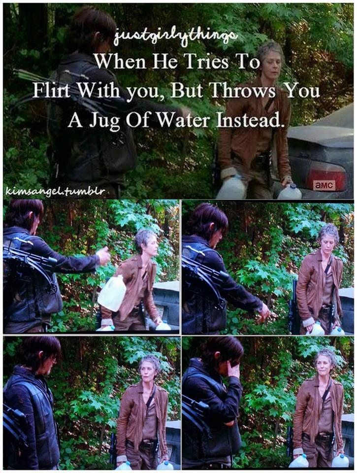 Flirty Daryl - Carol and Daryl - The Walking Dead Season 5 - Strangers