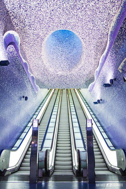 La station de Toledo, Naples - Italie