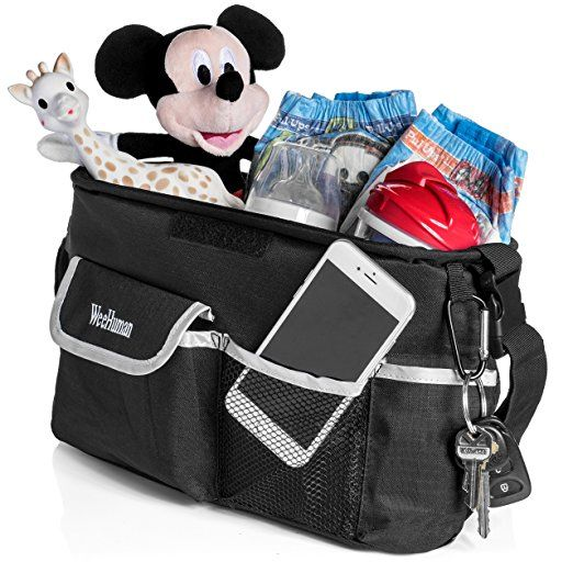 BEST BABY STROLLER ORGANIZER 2017, Fits All Strollers, Premium quality, Extra Storage Space for Diapers, iPhone, Wallets, Toys, clothes, FANTASTIC BABY SHOWER GIFT!!