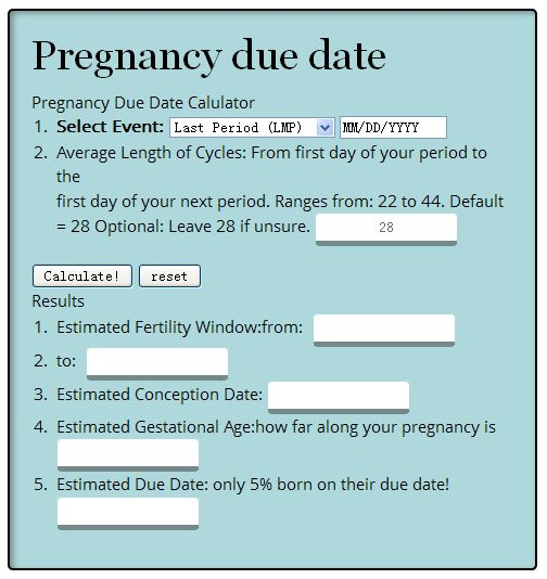Due date from conception in Brisbane