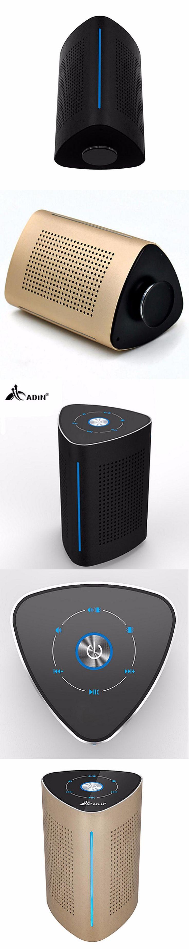 New Adin Wireless Bluetooth Speakers Resonance Speakerphone Stereo Speaker Outdoor Stereo Computer Audio With Microphone