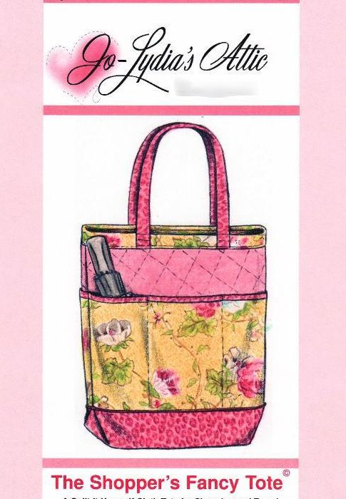 Free Tote Bag Pattern!    The Fancy Shopper Bag by Barbara Weiland #sewing