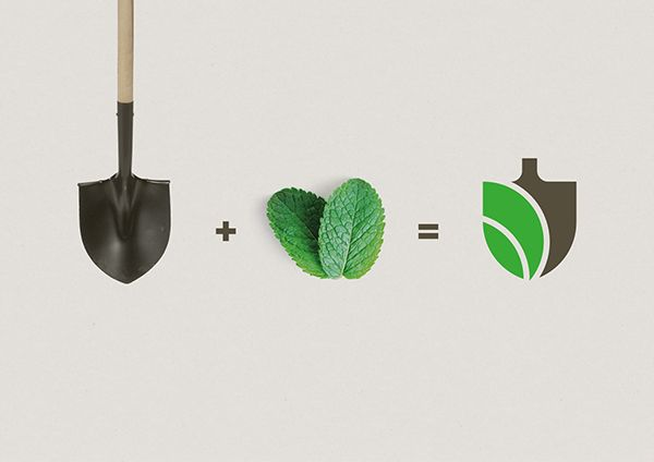 """G A R D E N I A on Behance"" -by combining two items associated to gardening the logo manages to instantly tell you what the company is about."