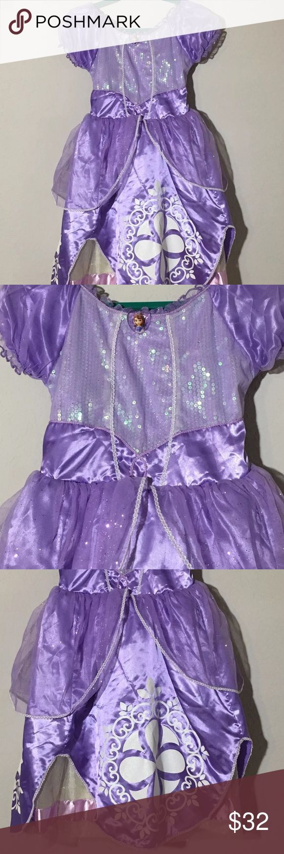 Disney Sofia The First Dress Up Costume Pretend Girls Disney Store Sofia the First dress up costume Pretend dress. Size 7/8. Excellent condition no flaws Disney Costumes