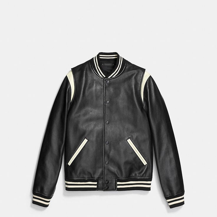 Coach Leather Baseball Jacket. 27 May 2016 on sale was $995, now $599 sizes: S,M,L,XL.