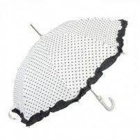 Galzone Stylový deštník s dekorem srdíček a lemováním