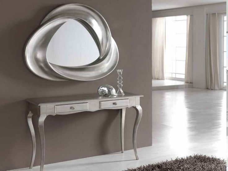 Cool Entryway Tables And Mirror Design Ideas  Coll Silver Theme Entryway Tables And Mirrors Design & 19 best Side table with mirror images on Pinterest | Entrance hall ...