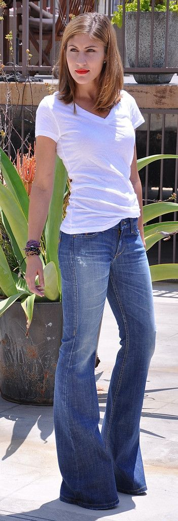 Women's Flare Jeans, Wide-Leg, Bell Bottom Jeans - Californian Vintage