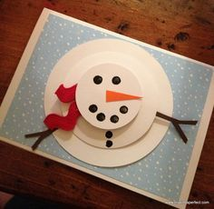 tarjetas de navidad hechas a mano con muñeco de nieve - Buscar con Google