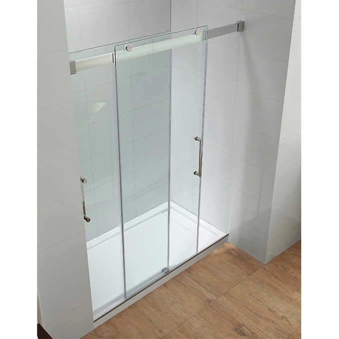 Ove Beacon Double Sliding Glass Shower Door And Base Set Shower