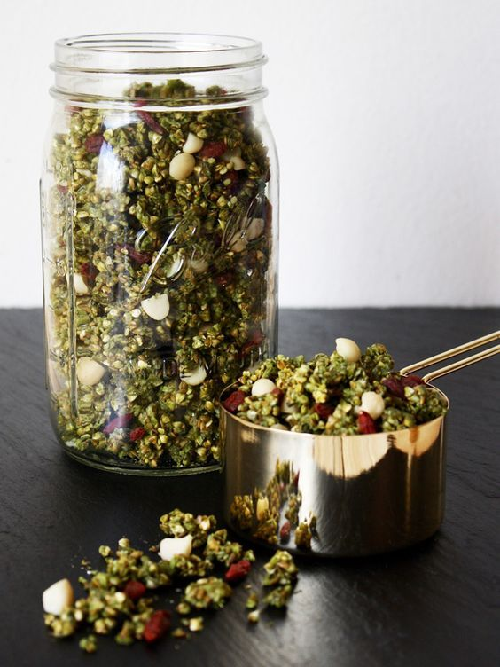This raw vegan matcha green tea granola will make a perfect gift for a matcha lover this Christmas. The green from the matcha, white from the macadamia, and red from the goji berries are the perfect Christmas colors. Pack it in a mason jar to gift, and it'll look like a Christmas tree in a...Read More »