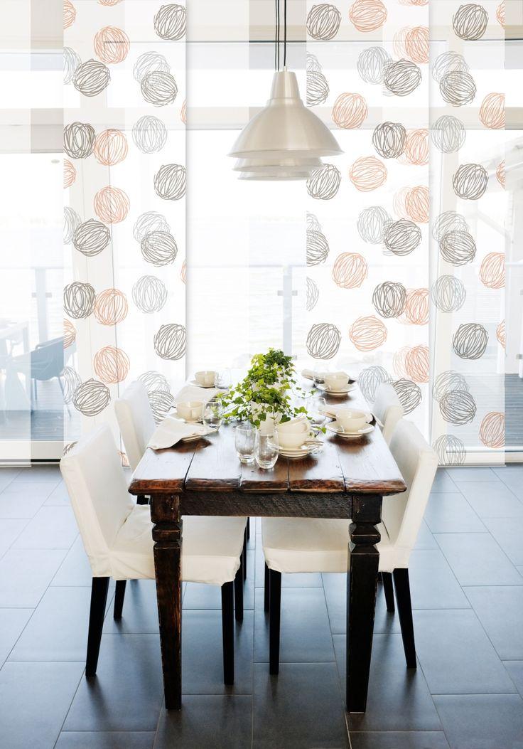 Die 25+ Besten Schiebevorhang Ideen Auf Pinterest | Tv Wand Rot ... Schiebevorhange Wohnzimmer Modern