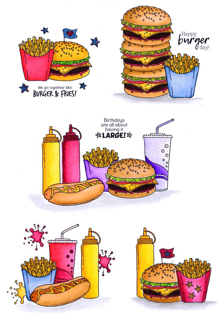 Fast Food Fun Inspiration Board