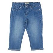 Roll Cuff Jean Capri 244822927 | Jeans | Bottoms | Women | Burlington Coat Factory
