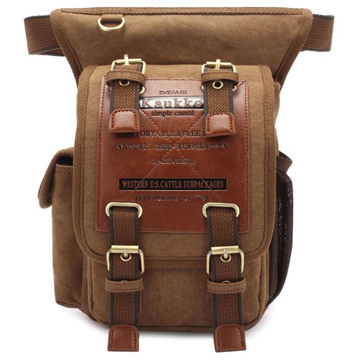 This waist backpack motorcycle bag is stylish  as well as convenient and durable. The bag is made of a high quality imported washed canvas. The pack features a five pocket structure, perfect for storing your phone, keys and wallets.