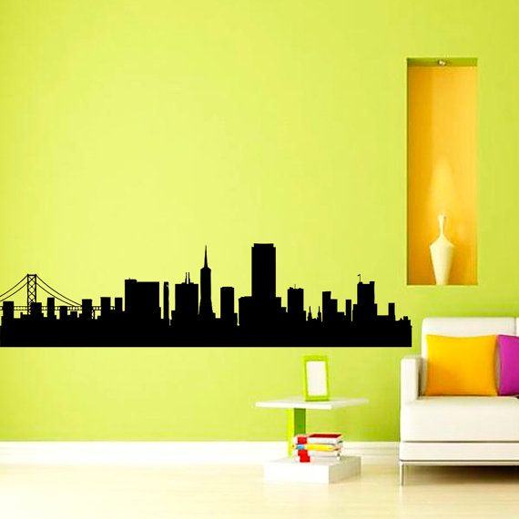36 best City Silhouette images on Pinterest | Vinyl wall decals ...