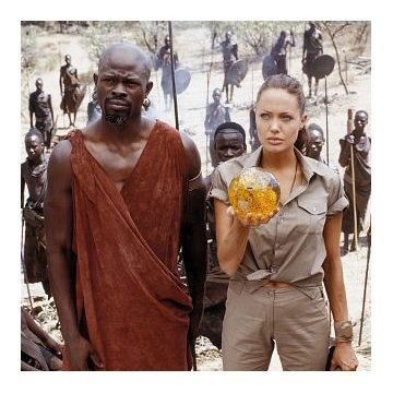 Angelina Jolie and Djimon Hounsou in Lara Croft Tomb Raider: The Cradle of Life http://www.newmovieshouse.com/2003/Lara-Croft-Tomb-Raider-The-Cradle-of-Life/