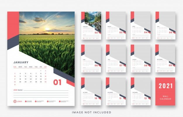 2021 Wall Calendar Print Ready Template Design In 2020 Print Calendar Wall Calendar Poster Presentation Template