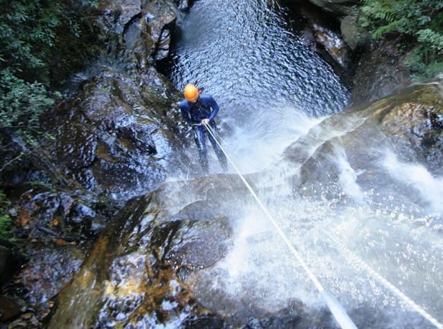 Abseiling the Empress Falls, Blue Mountains, NSW