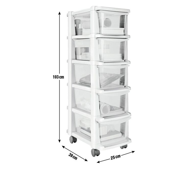 Buy HOME 5 Drawer White Plastic Slim Tower at Argos.co.uk, visit Argos.co.uk to shop online for Plastic storage boxes and units, Storage, Home and garden