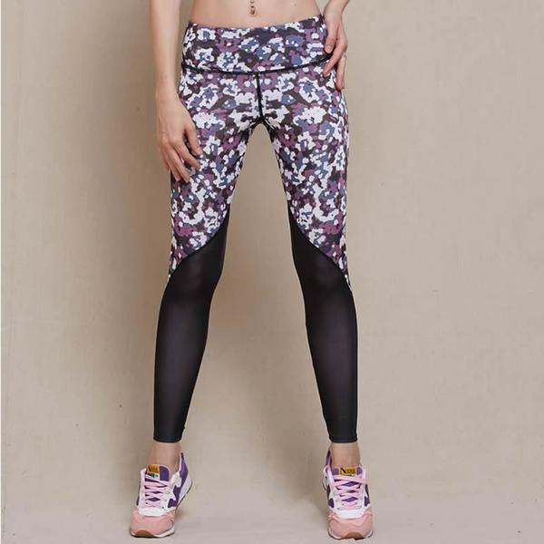 Lijalai Women's Sports Yoga Pants Compression Running Tights Leggings Gym Athletic Skinny Fitness Sportswear Trousers Plus Size