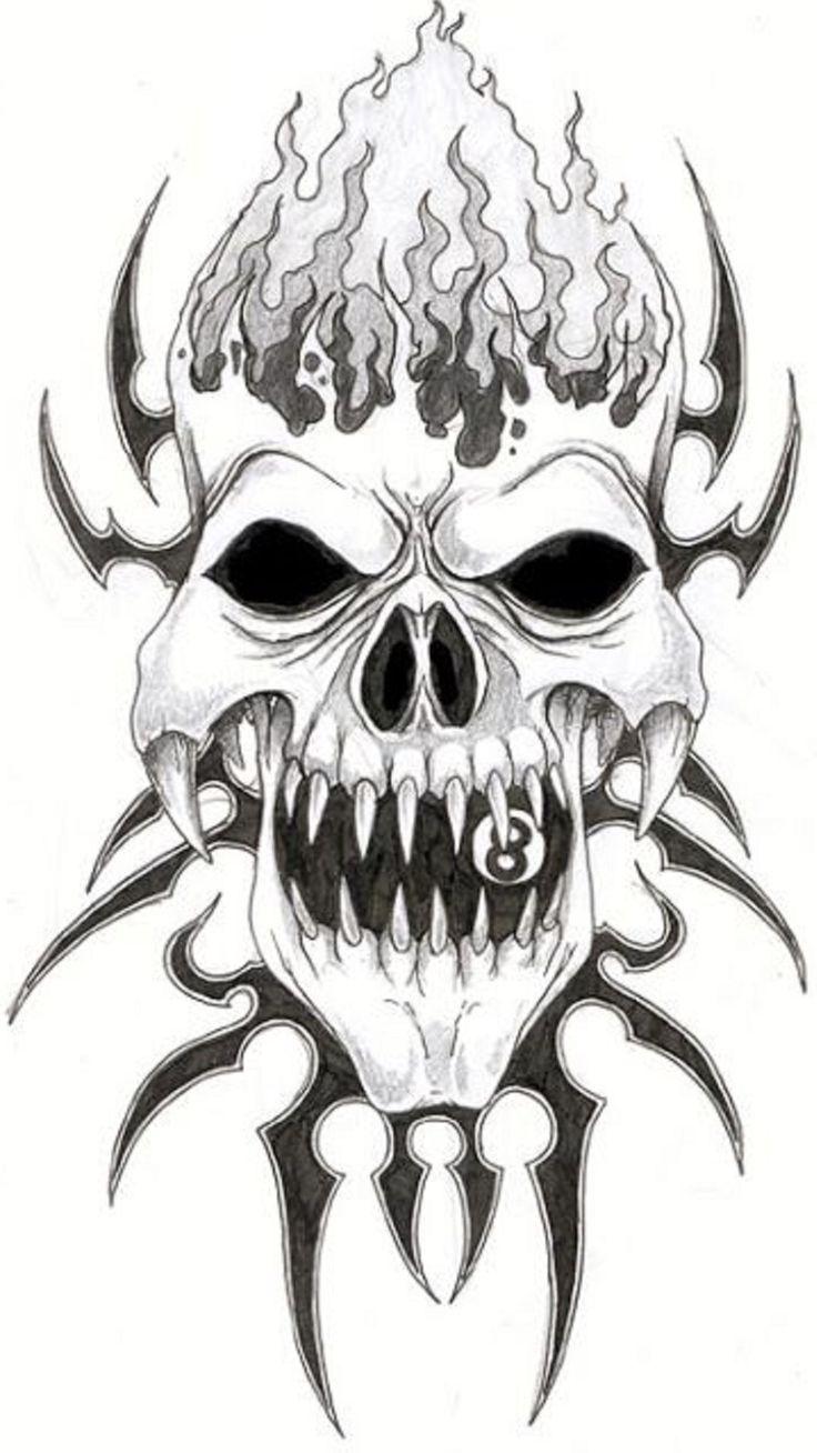 Mejores 855 imágenes de Skulls ♡ en Pinterest | Arte del cráneo ...