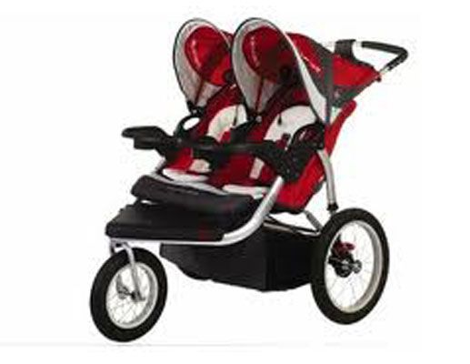 Best Double Jogging Stroller  Schwinn Turismo's swivel wheel helps you move quickly during your run. This joggers' smooth, but sturdy form ensures a smooth ride for your babies, no matter what terrain you run on. $220, Target.com
