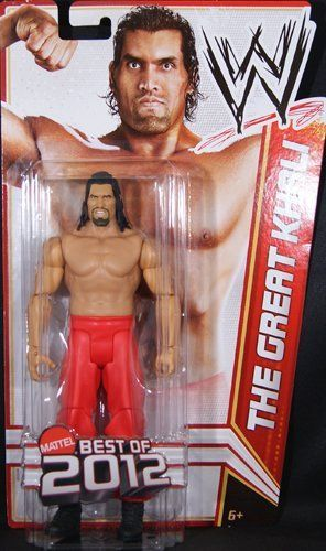 "WWE Best of 2012 Great Khali Figure by Mattel. $23.99. WWE Best of 2012 Series action figures in 7"" Superstar Scale. Features extreme articulation, amazing accuracy, and authentic details. Kids can recreate their favorite WWE matches. Collect all your favorites WWE Superstars. Bring home the officially licensed WWE action. From the Manufacturer                World Wrestling Entertainment Best of 2012 Series Figure: Bring home the action of the WWE. Kids can recreate ..."